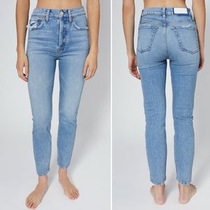Re/Done High Rise Ankle Crop Sz 25